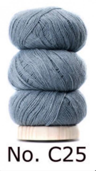 Bomuld og Uld Grau Blau