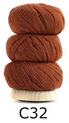 Bomuld og uld Orange
