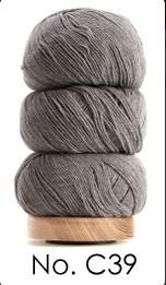 Bomuld og uld Grau