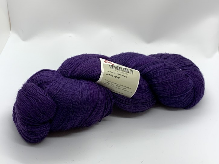 Lace purple velvet