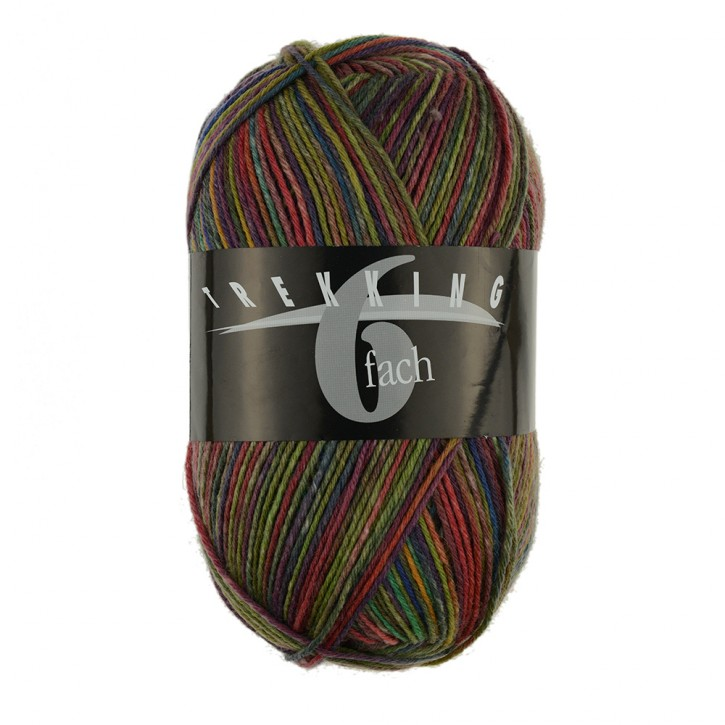 Trekking 6fach color 1801